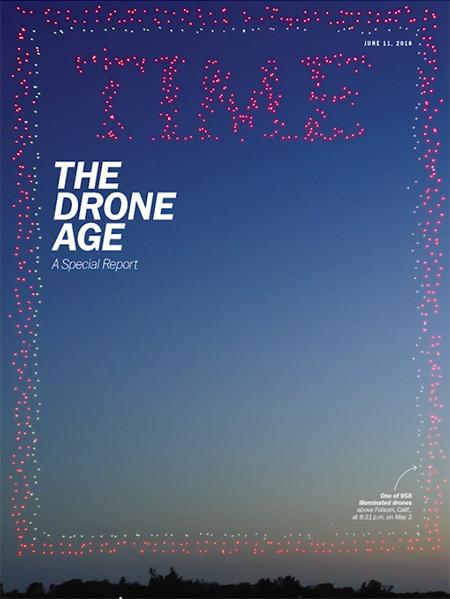 Drones de Intel dibujan en el cielo la portada de Time