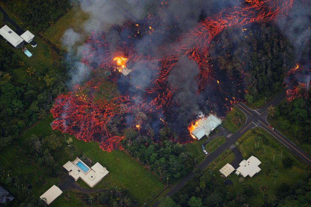 Volcán Kilauea drone