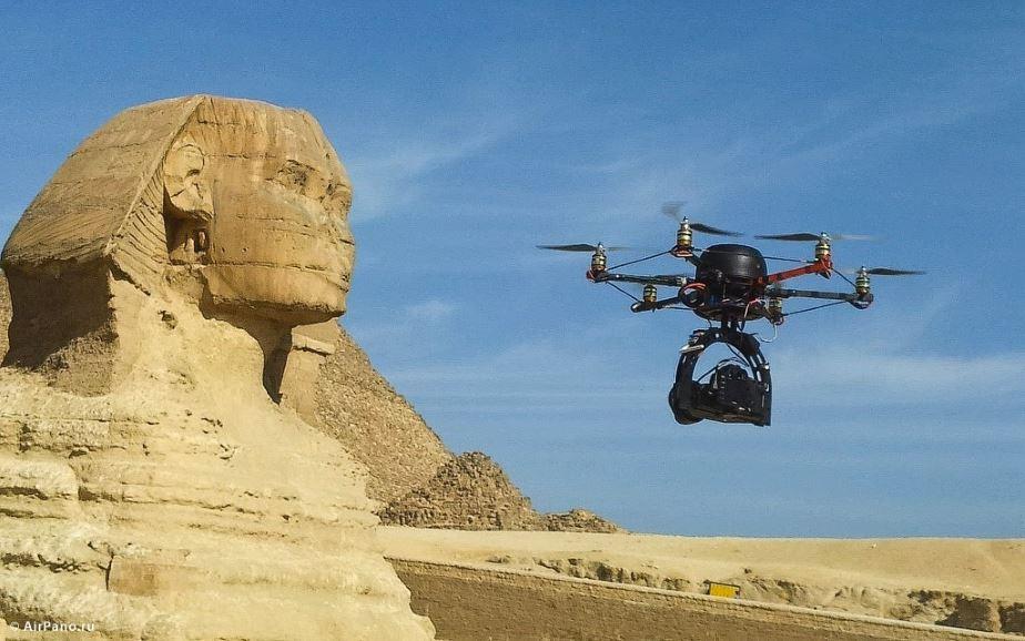 Drone arqueología Egipto
