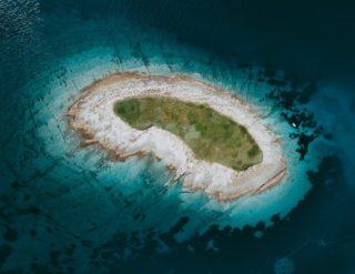 Fotografías aéreas de los azules del Mediterráneo
